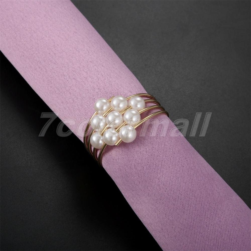 Napkin Rings Serviette Holder Dinner Wedding Towel Ring Party Table Decor Q